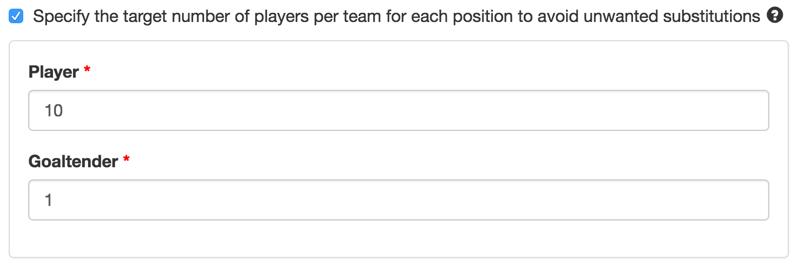 Paramètre de nombre de joueurs minimal.