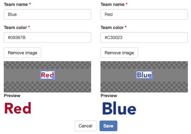 Team settings
